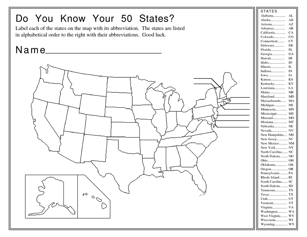 the map you will need to label a blank map of the states and submit it ...